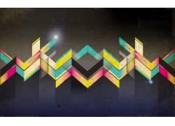 抽象,箭头,涂鸦,明星,华美,数字艺术67709
