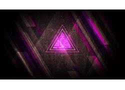 抽象,紫色,三角形,碎片,数字艺术431030