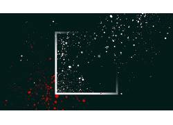 抽象,极简主义,广场,油漆飞溅,简单的背景,点,数字艺术,黑色,白色