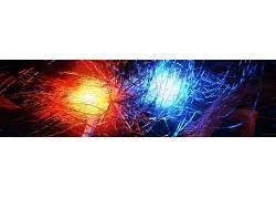抽象,火,冰,数字艺术71457