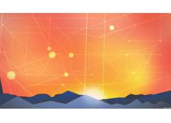 抽象,极简主义,日落,线,太阳,天空,超现实主义386106