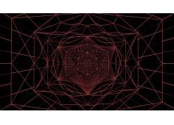 抽象,红,艺术品,三角形,质地,模式,几何,六边形,线条艺术691386