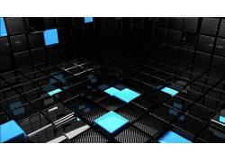 抽象,黑暗,给予,CGI,广场,黑色,蓝色62551