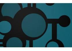 抽象,极简主义,蓝色背景102296