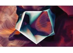 抽象,线,华美,几何,五边形,数字艺术,形状393834
