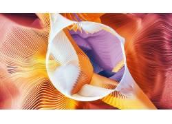 抽象,线,华美,几何,圈,数字艺术,形状393836