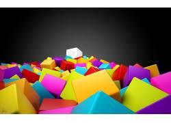 抽象,王冠,华美,立方体,数字艺术31470