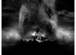 抽象,龙珠Z,单色,黑暗111200图片