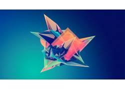 抽象,梯度,几何,数字艺术,贾斯汀马勒,面3326