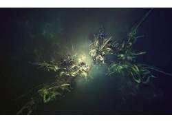 抽象,绿色,数字艺术80928