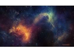 抽象,空间,星云,太空艺术,TylerCreatesWorlds,数字艺术,艺术品,