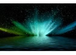 抽象,空间,水,明星,数字艺术61414图片