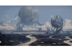 抽象,行星,科幻小说,数字艺术72637图片