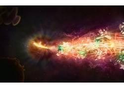 抽象,空间,数字艺术,太空艺术22894