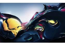 抽象,艺术品,华美,Rik Oostenbroek48607