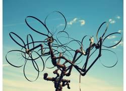 抽象,艺术品,天空,管道383539