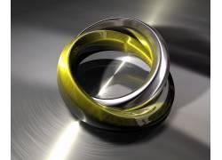 抽象,艺术品,平面设计,向量,戒指,金属383511