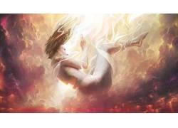 抽象,迷幻,妇女650128
