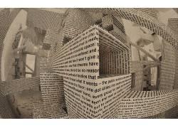 抽象,艺术品,文本,迷宫,3D457873
