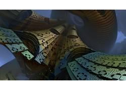 数字艺术,抽象,3D,CGI,几何187537图片