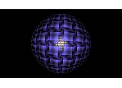 数字艺术,抽象,3D,CGI,分形,领域,黑色的背景,三维分形,对称45476