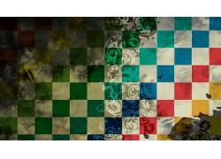数字艺术,极简主义,几何,广场,抽象,华美,创造力,鸟类,格仔366028