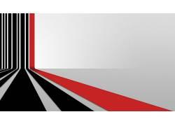 简单的背景,艺术品,线,抽象,白色,红,黑色166651