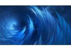 螺旋,波浪,蓝色,抽象,数字艺术610643图片