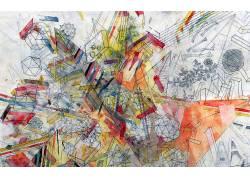 素描,艺术品,抽象,几何164220