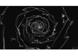 数字艺术,极简主义,抽烟,螺旋,黑色的背景,抽象277806