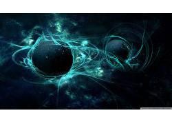 行星,空间,抽象,蓝色,绿色,太空艺术,数字艺术72195