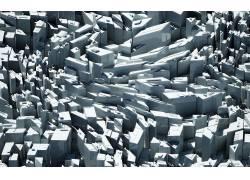 灰色,白色,建筑,超现实主义,CG,CGI,建造,抽象,给予,数字艺术,市