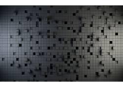灰色,立方体,数字艺术,抽象,3D,几何,质地,纹理,给予4062图片