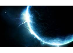 行星,空间,蓝色,抽象,太空艺术,数字艺术72147
