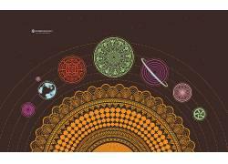 行星,简单,简单的背景,太阳系,太空艺术,空间,抽象163800