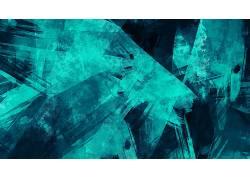 数字艺术,极简主义,抽象,几何,蓝色,油漆飞溅,垃圾587718