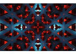 数字艺术,抽象,CGI,给予,几何,对称,三角形,镜像,线303779