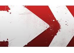 红,抽象,极简主义,艺术品,白色,数字艺术6348