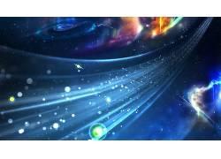 数字艺术,抽象,CGI,给予,空间,宇宙,明星,星系,点,泛着275530