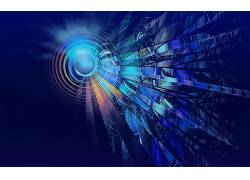 数字艺术,抽象,CGI,蓝色,圈,线,泛着224876