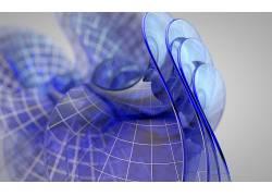 数字艺术,抽象,CGI,蓝色,网,3D,地图224877