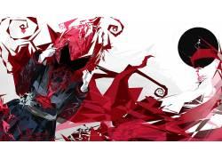 红宝石,抽象,DeviantArt的,RWBY,红宝石玫瑰394425