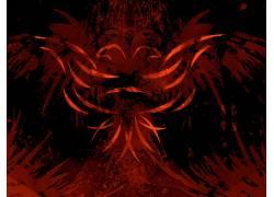 鹰,阿尔巴尼亚,红,黑色,抽象552867图片