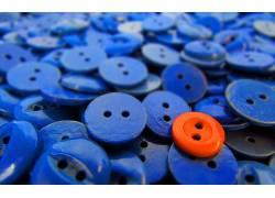 纽扣,蓝色,橙子,抽象摇摆538363
