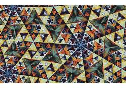 谢尔宾斯基三角形,分形,chaotica,蝴蝶,数字艺术,现代,抽象,华美,