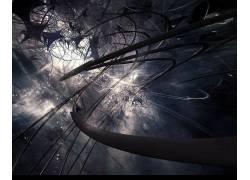 黑暗,抽象,电线,艺术品,数字艺术71804图片