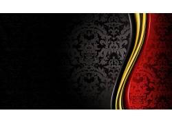 豪华,王室的,黑色,金,红,抽象293960