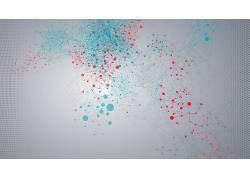 数字艺术,极简主义,简单的背景,点,线,2D,几何,CGI,抽象,圈440727