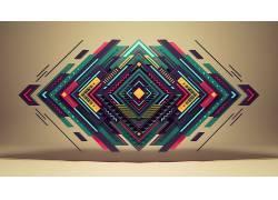 数字艺术,抽象,几何,华美,艺术品32935