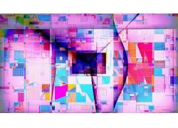 数字艺术,抽象,几何,华美,长方形,三角形,广场,线,粉353575